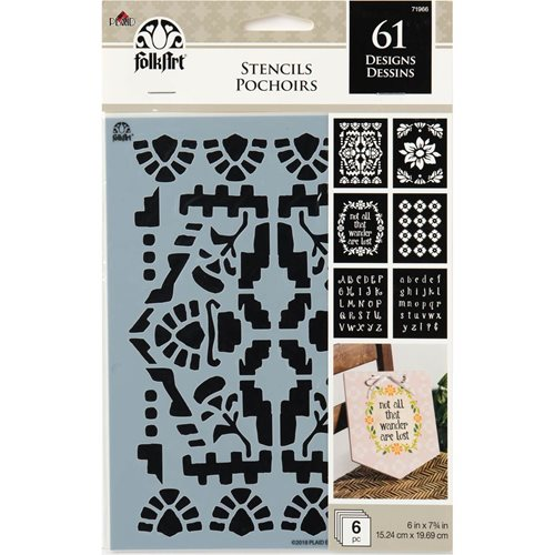 FolkArt ® Craft Stencils - Value Packs - BOHO - 71966