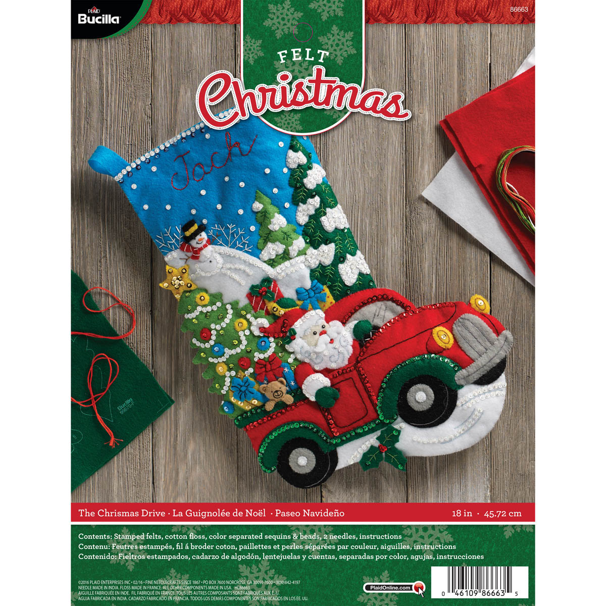 Bucilla ® Seasonal - Felt - Stocking Kits - The Christmas Drive - 86663