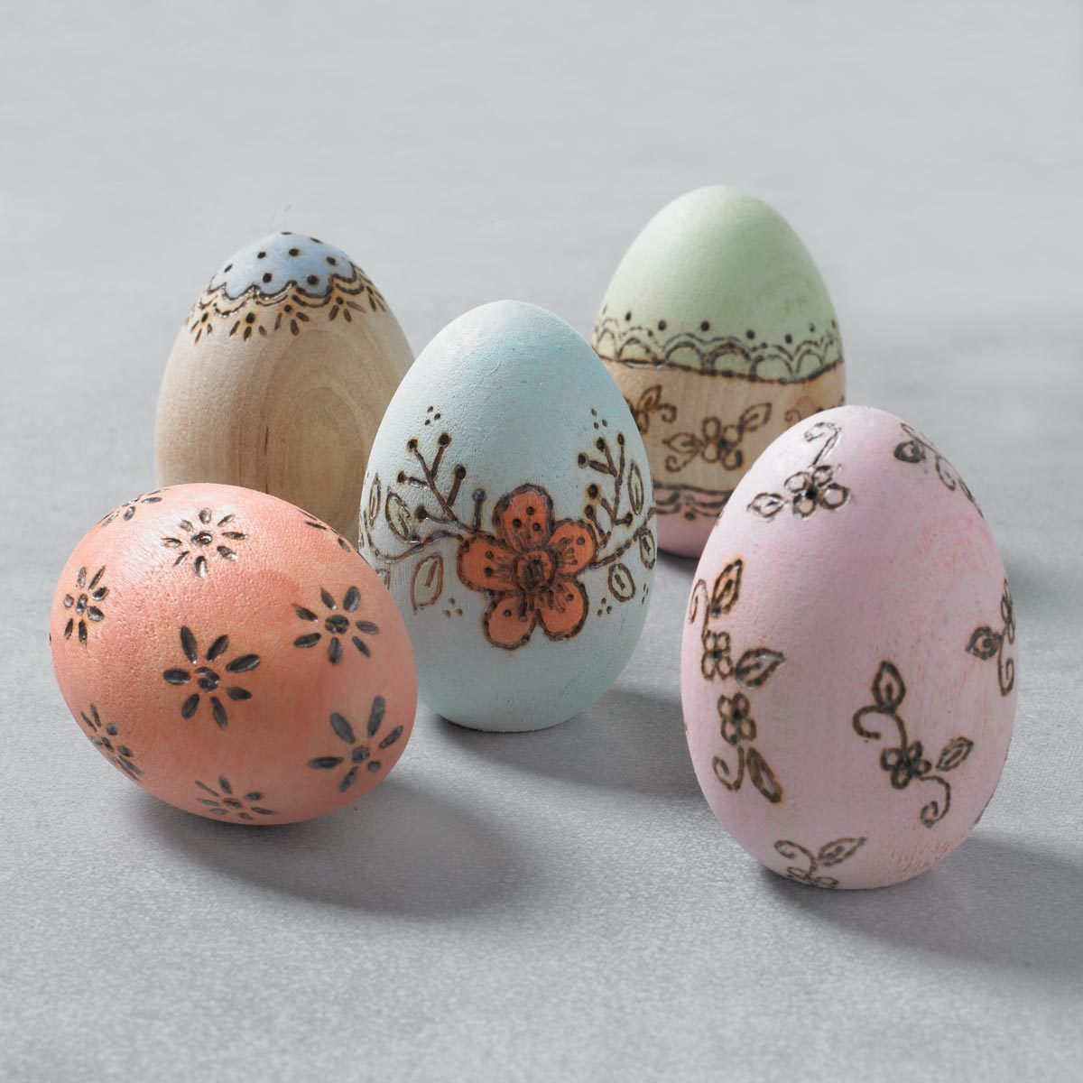 Wood-Burned Easter Eggs and Bowl
