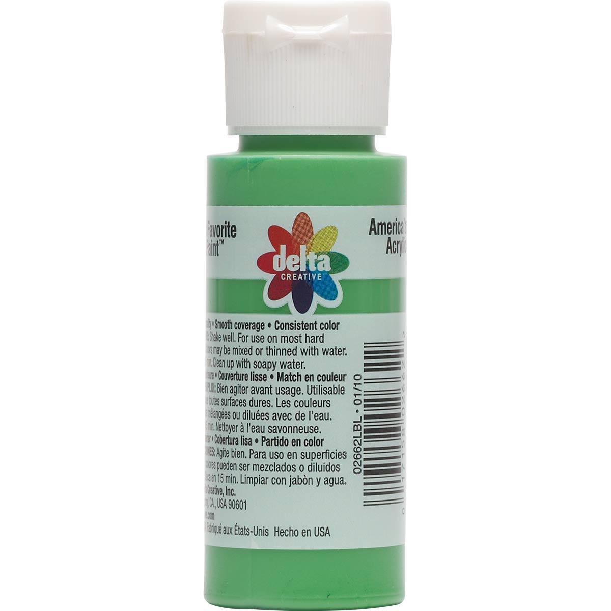 Delta Ceramcoat ® Acrylic Paint - Green, 2 oz.