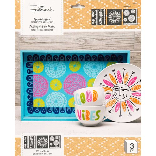 "Hallmark Handcrafted Adhesive Stencils - Doodle Design Pack, 8-1/2"" x 9-1/2"" - 39282"