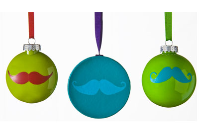 Mustache Ornaments with FolkArt Multi-Surface Paints