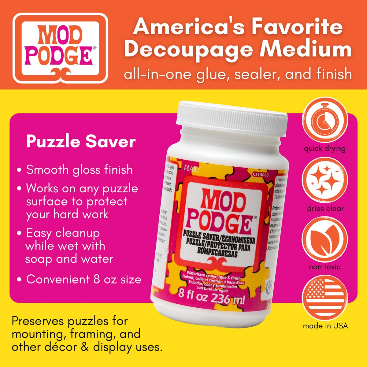 Mod Podge ® Puzzle Saver, 8 oz. - CS15068