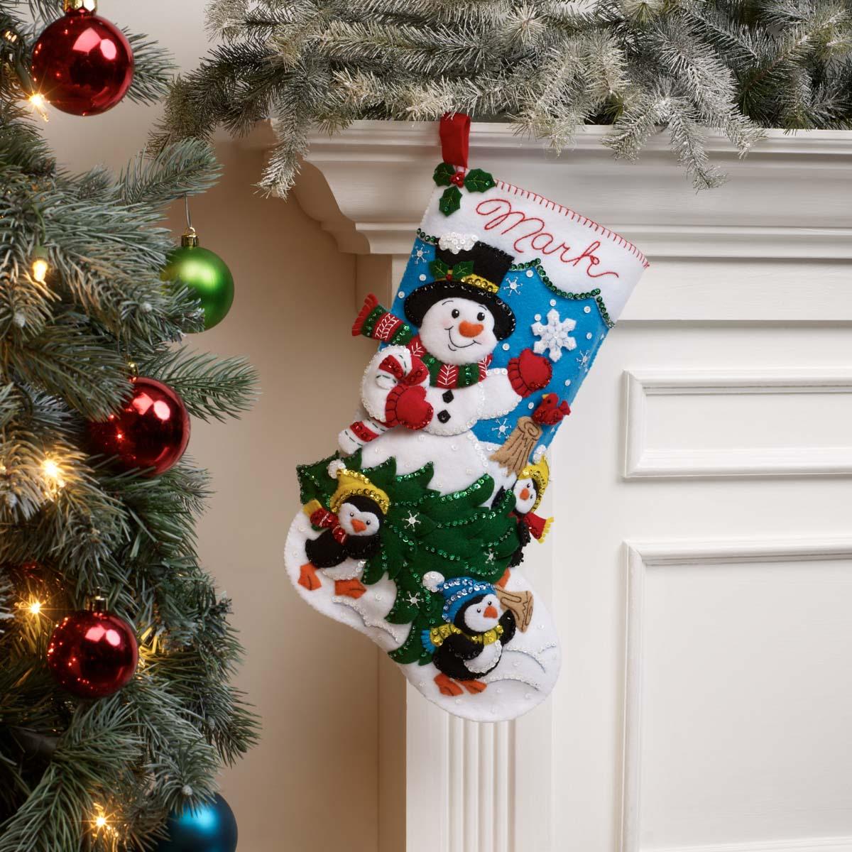 Bucilla ® Seasonal - Felt - Stocking Kits - The Perfect Tree - 89329E