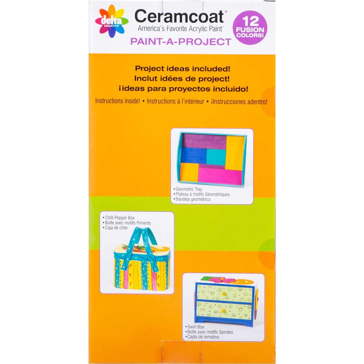 Delta Ceramcoat ® Paint-A-Project - Fusion, 12 Colors - 028880056