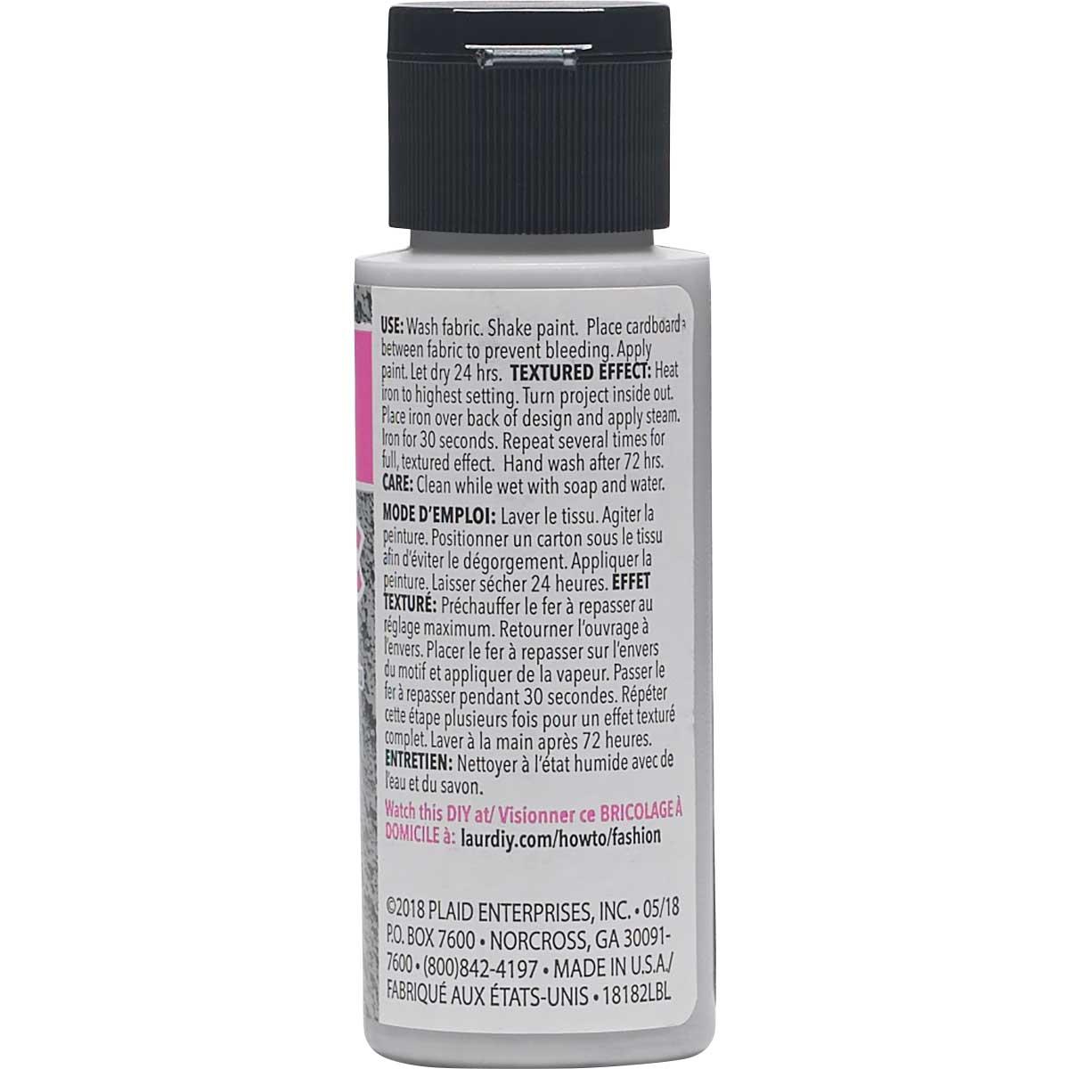 LaurDIY ® Texturific™ Fabric Paint - Lovely Bones, 2 oz.