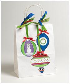 Painted Christmas Gift Bag