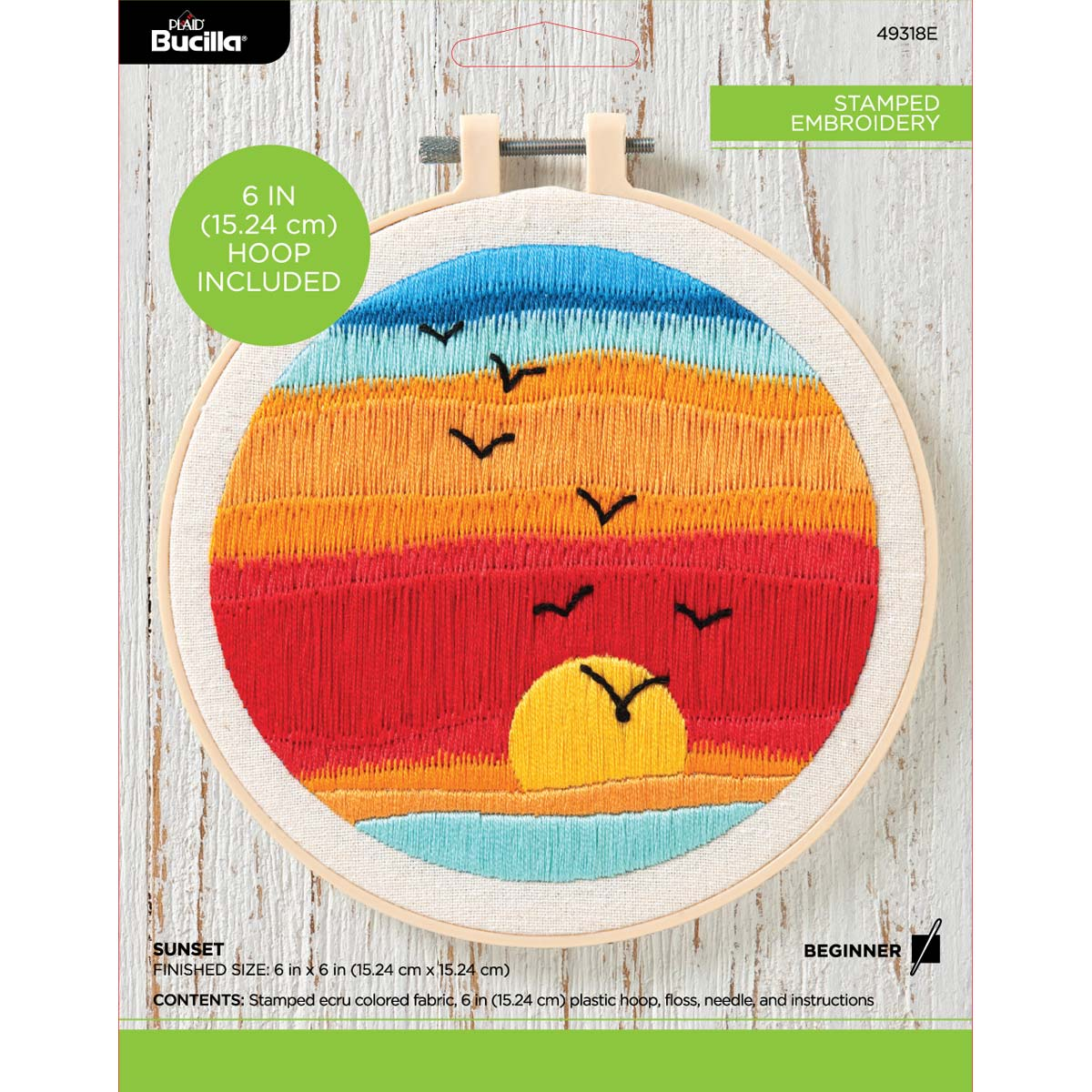 Bucilla ® Stamped Embroidery - Sunset - 49318E
