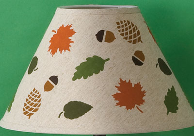 Woodland Lampshade with Handmade Charlotte™ Stencils