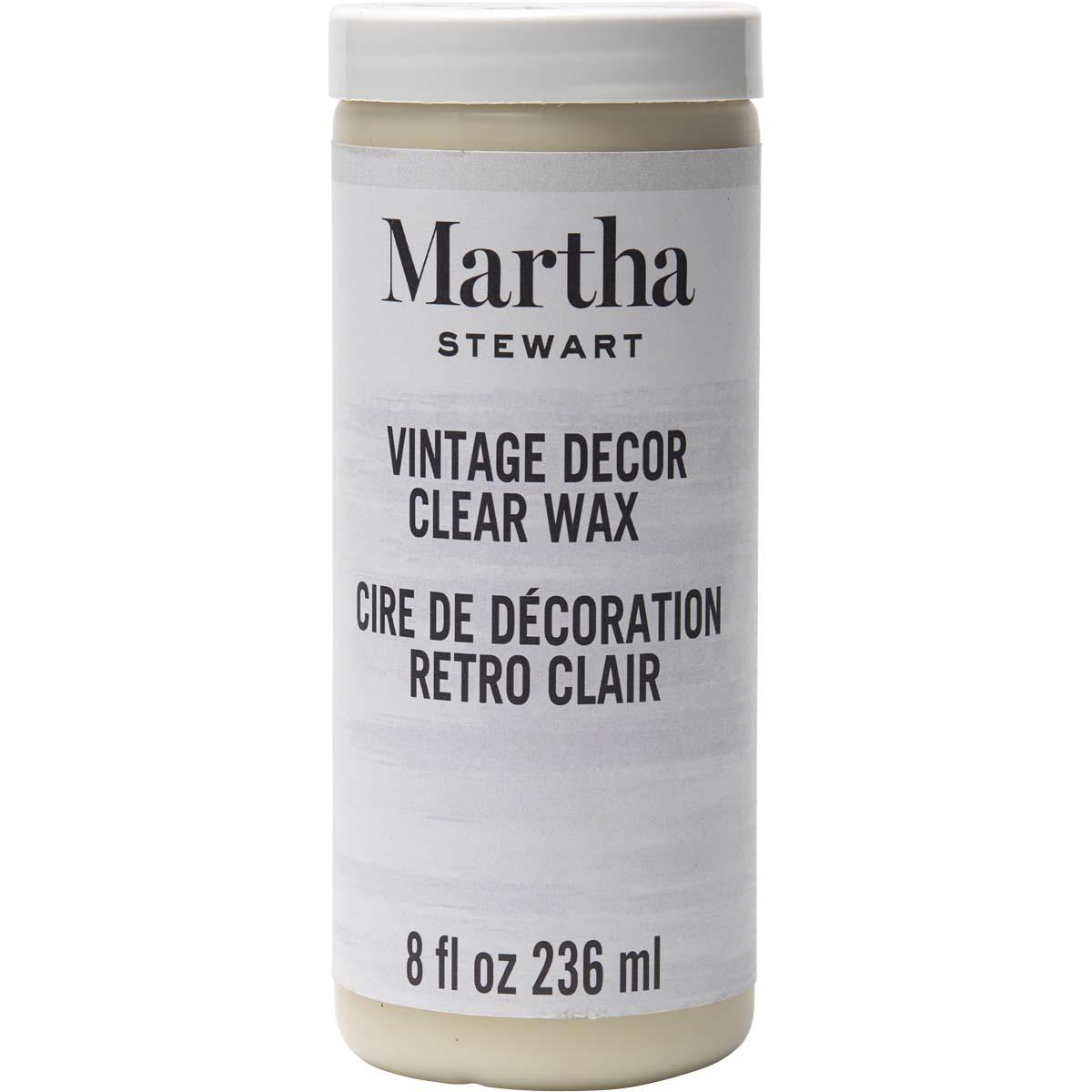 MARTHA STEWART VINTAGE DECOR 8 OZ. CLEAR WAX
