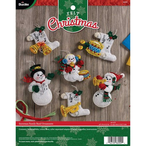 Bucilla ® Seasonal - Felt - Ornament Kits - Snowman Family Band