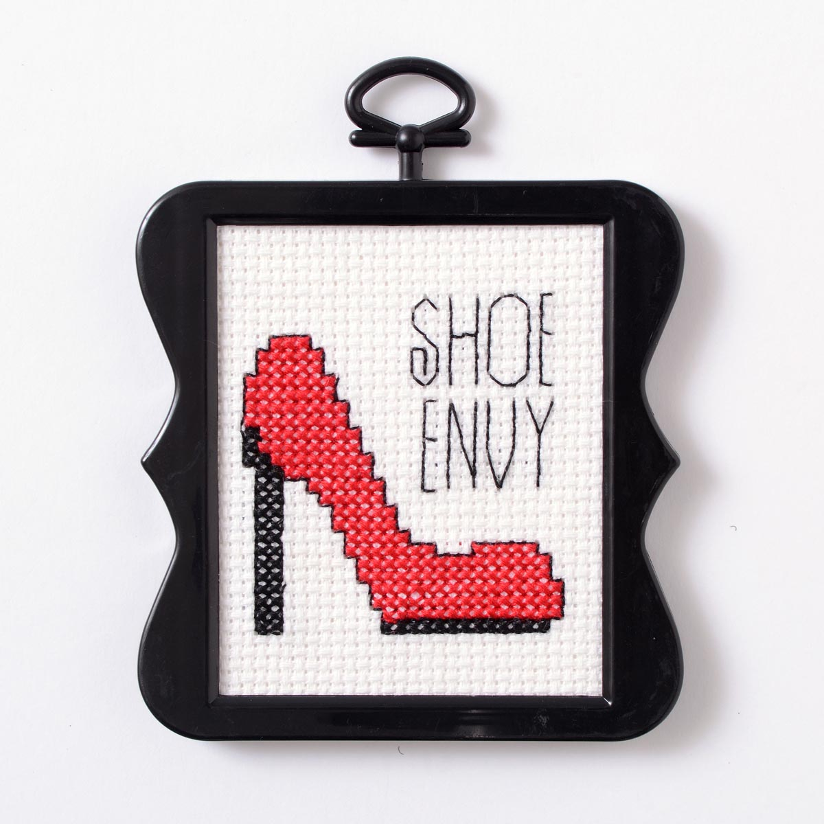 Bucilla ® Counted Cross Stitch - Beginner Stitchery - Mini - Shoe Envy