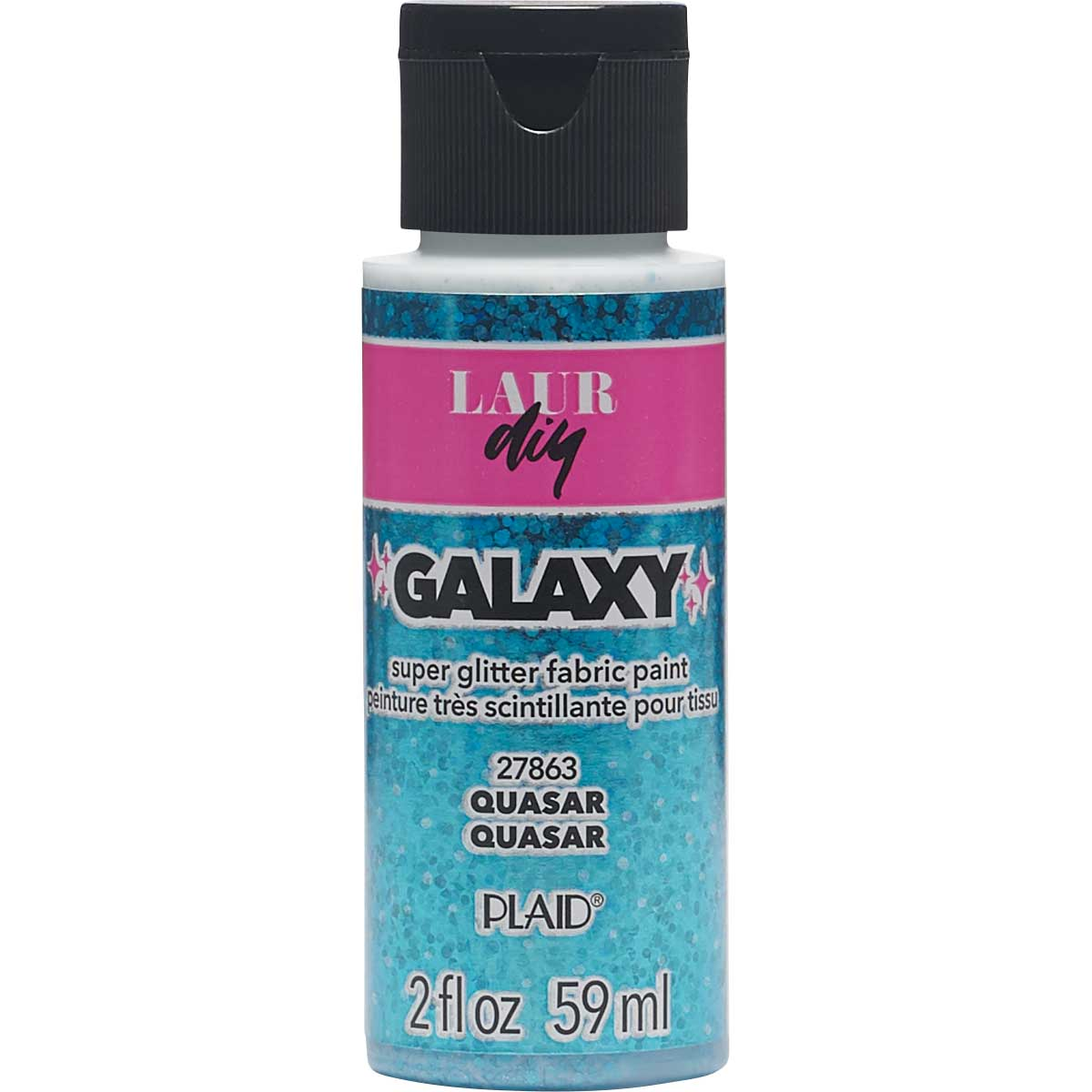 LaurDIY ® Galaxy Glitter Fabric Paint - Quasar, 2 oz.