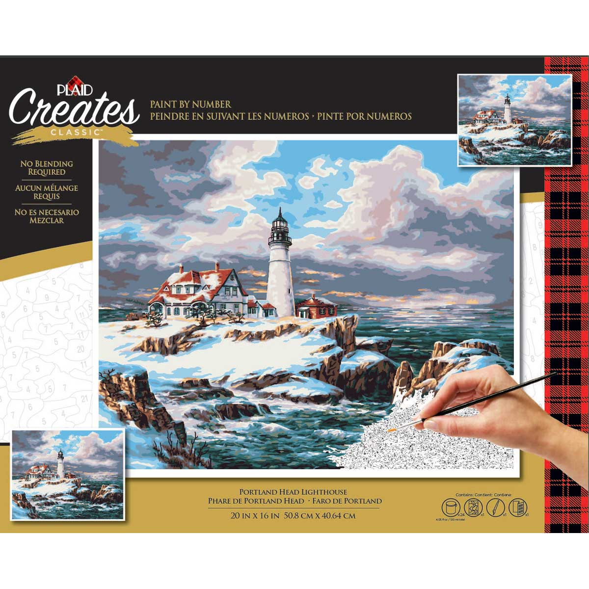 Plaid ® Paint by Number - Portland Head Lighthouse