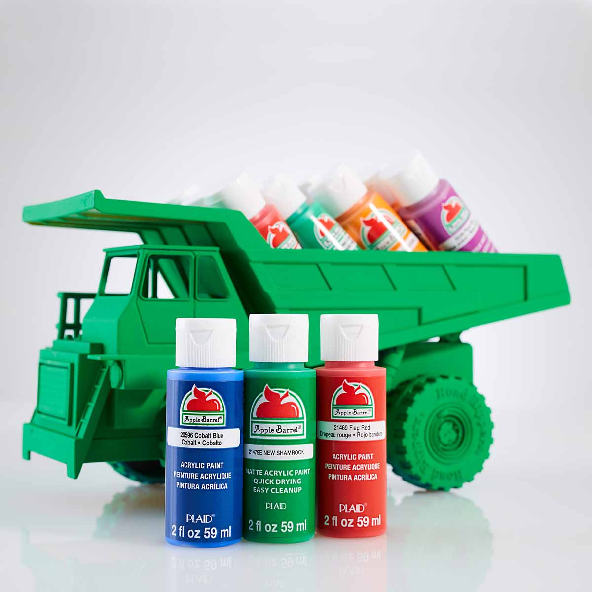 Painted Toy Trucks