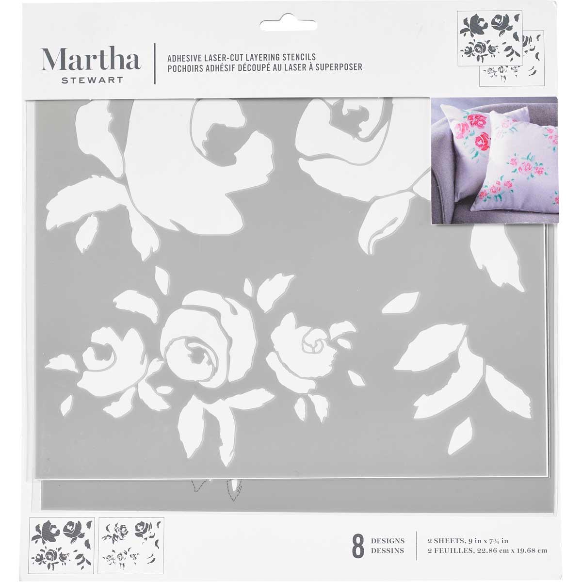 Martha Stewart® Adhesive Stencil - Big Blooms