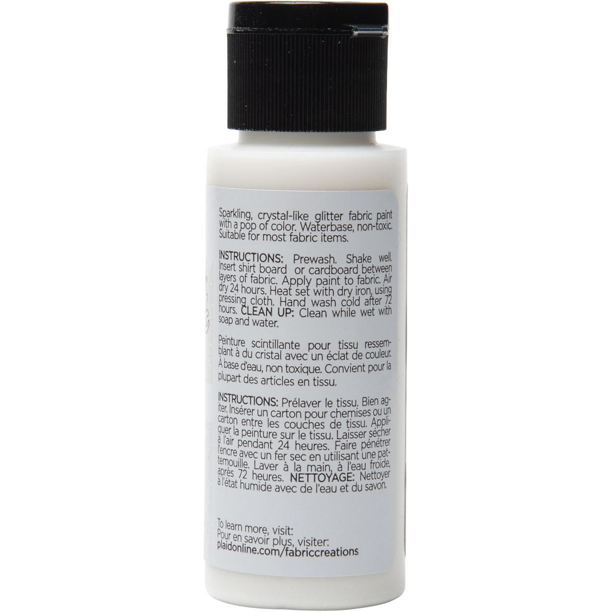 Fabric Creations™ StarStruck Glitter™ Fabric Paint - Crystal, 2 oz.