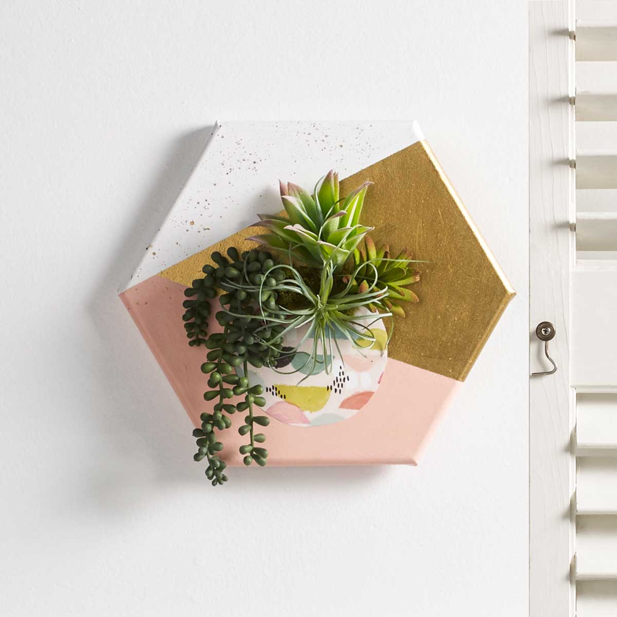 Retro Succulents - Dimensional Wall Art