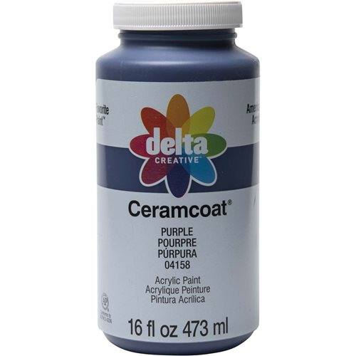 Delta Ceramcoat ® Acrylic Paint - Purple, 16 oz. - 04158