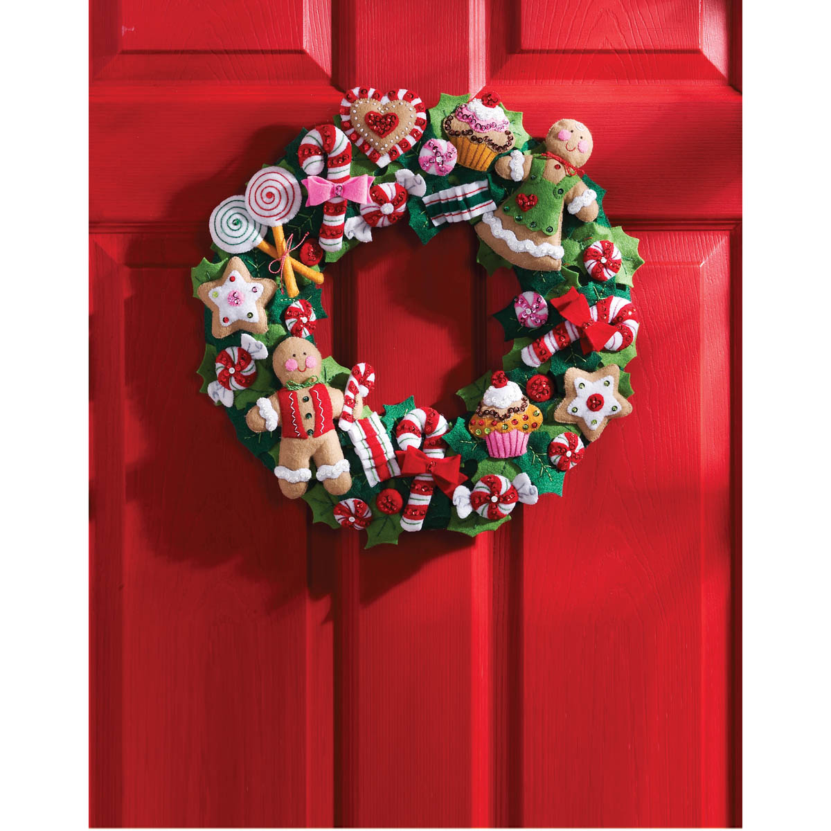 Bucilla ® Seasonal - Felt - Home Decor - Cookies and Candy Wreath