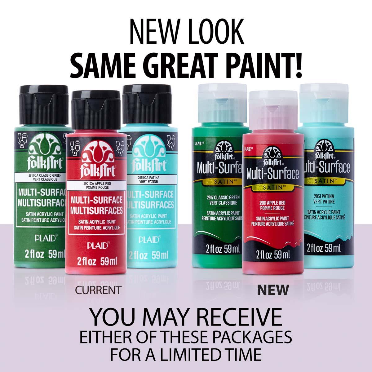 FolkArt ® Multi-Surface Satin Acrylic Paint 12 Color Set - Kit 1 - PROMO830
