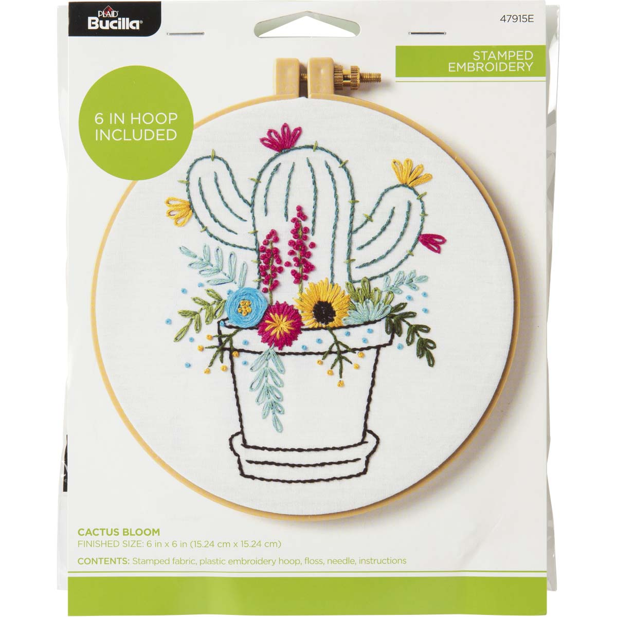 Bucilla ® Stamped Embroidery - Cactus Bloom - 47915E