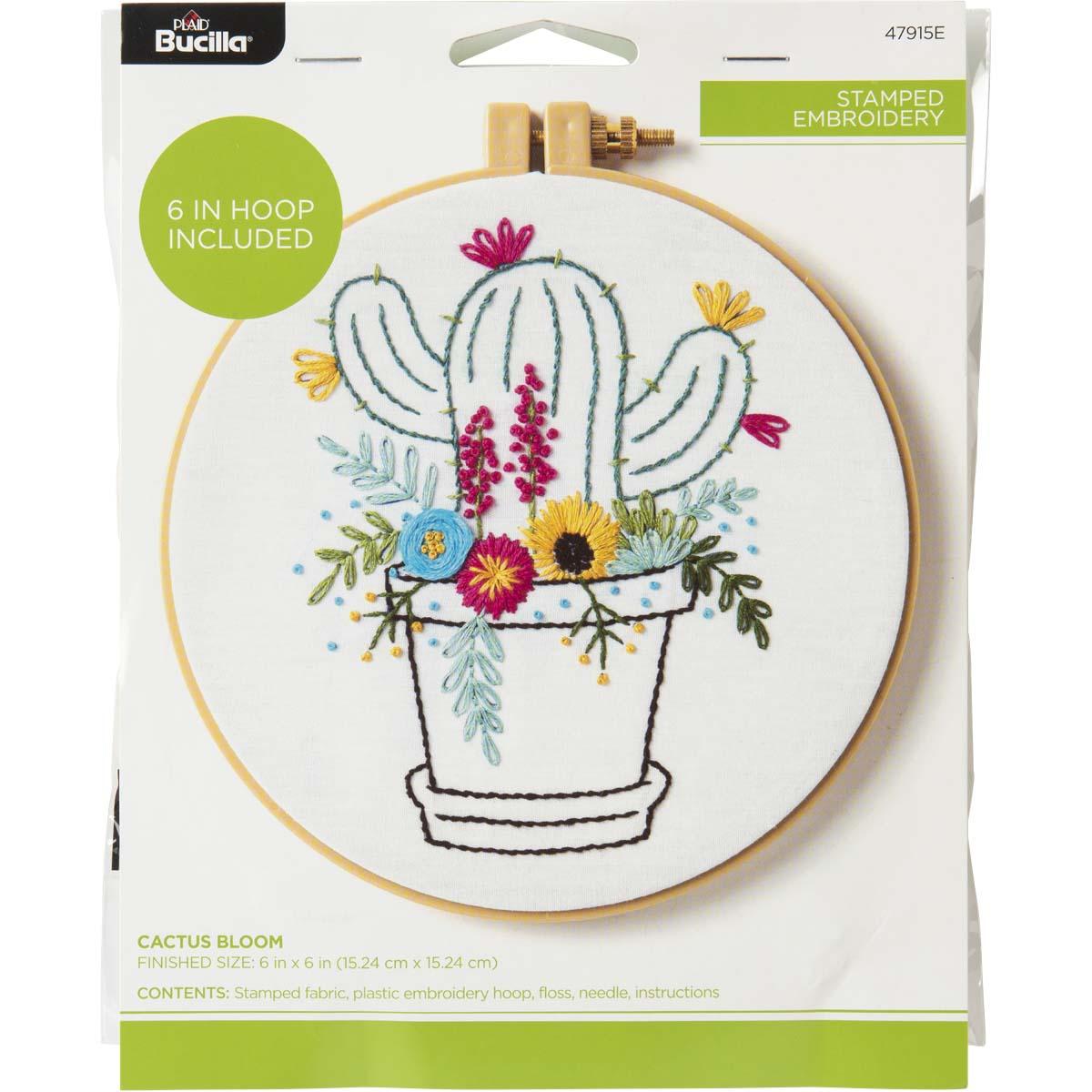 Bucilla ® Stamped Embroidery - Cactus Bloom - 47915E