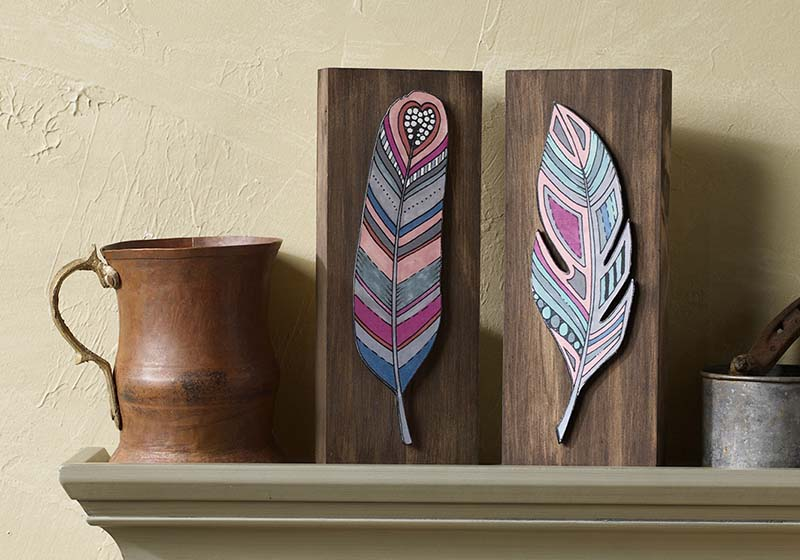 Feather Art Inspired By Coloring Book For Adults Project Plaid