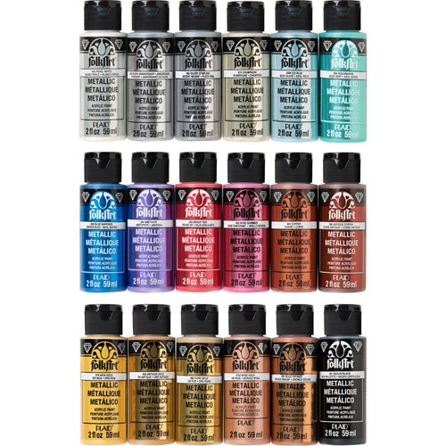 FolkArt ® Metallics Paint Set, 18 Colors - PROMOFAM
