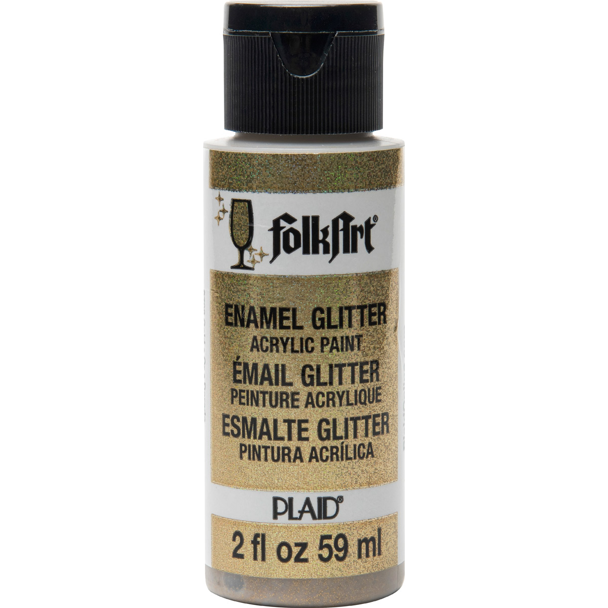 FolkArt ® Enamels™ - Glitter Gold, 2 oz.