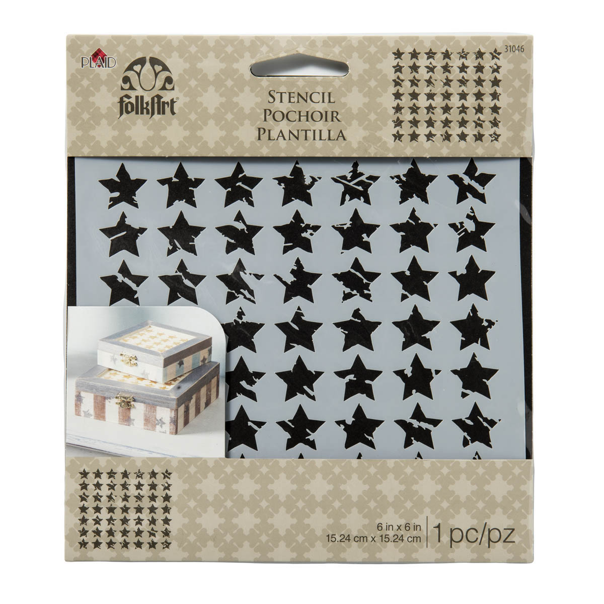 FolkArt ® Painting Stencils - Small - Distressed Stars - MS31046