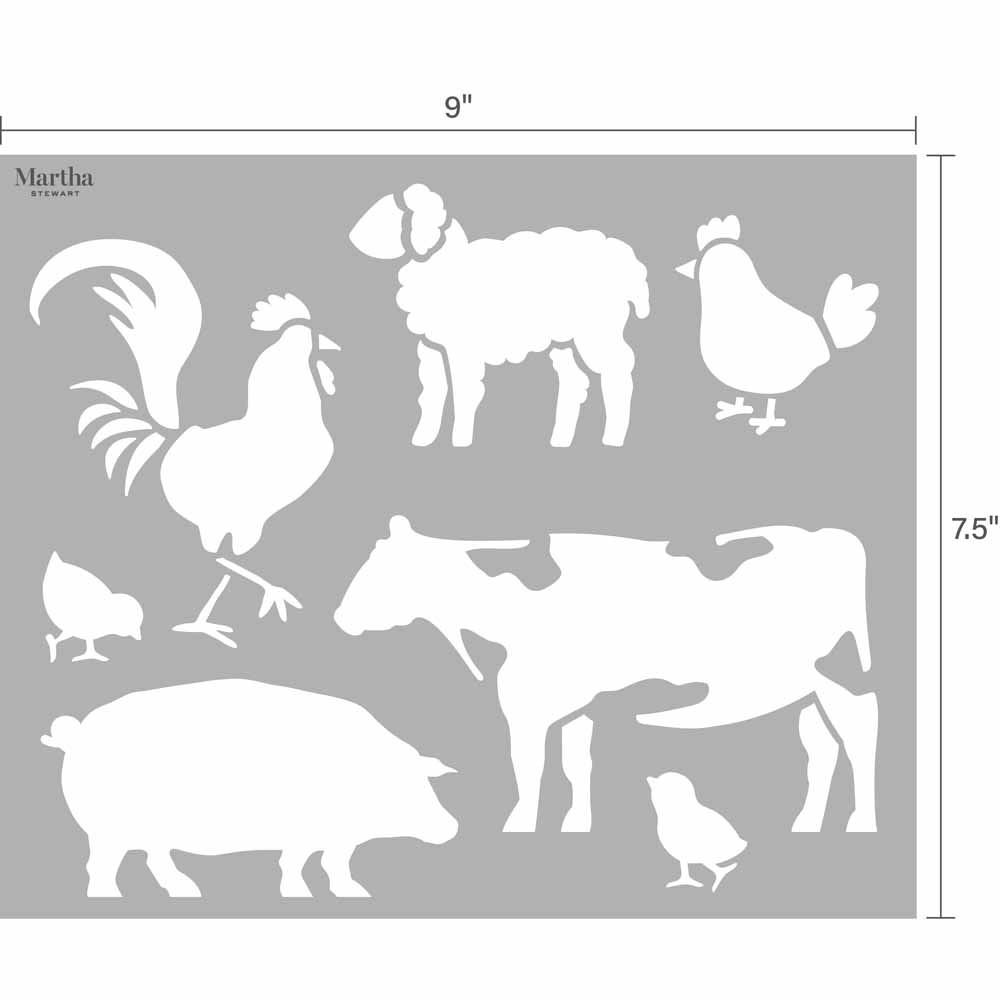 Martha Stewart ® Adhesive Paper Stencils - Farm and Animals - 5688