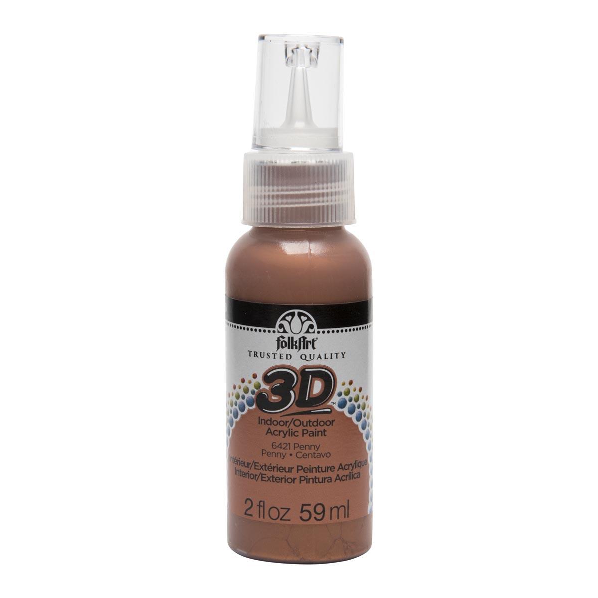 FolkArt ® 3D™ Acrylic Paint - Penny Metallic, 2 oz.