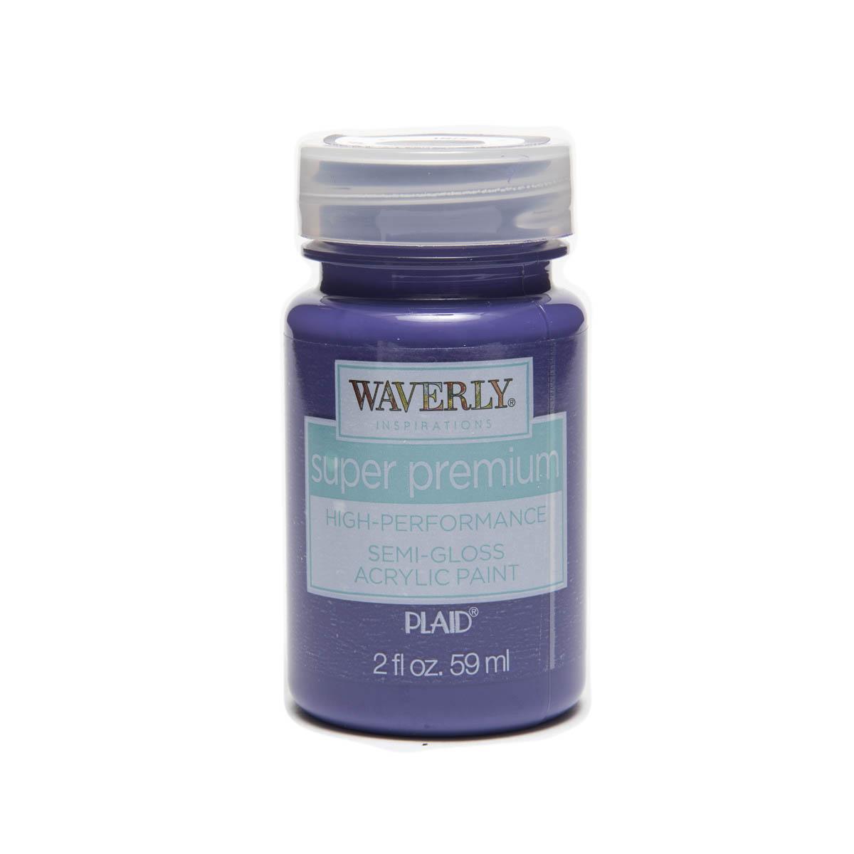 Waverly ® Inspirations Super Premium Semi-Gloss Acrylic Paint - Iris, 2 oz. - 60649E