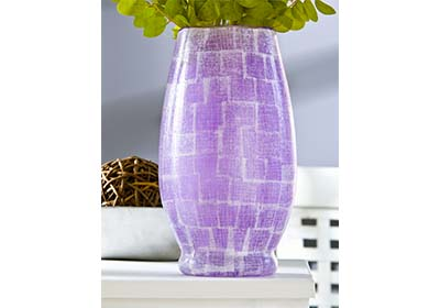 Radiant Orchid Rice Paper Vase