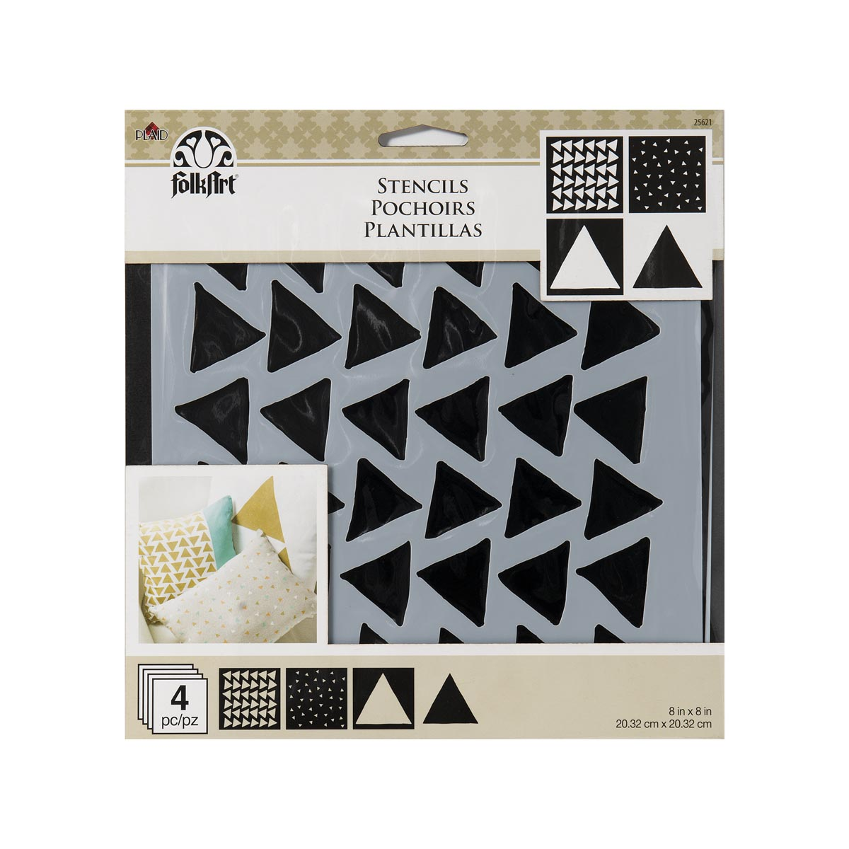 FolkArt ® Craft Stencils - Value Packs - Triangles