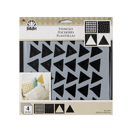 FolkArt ® Craft Stencils - Value Packs - Triangles - 25621