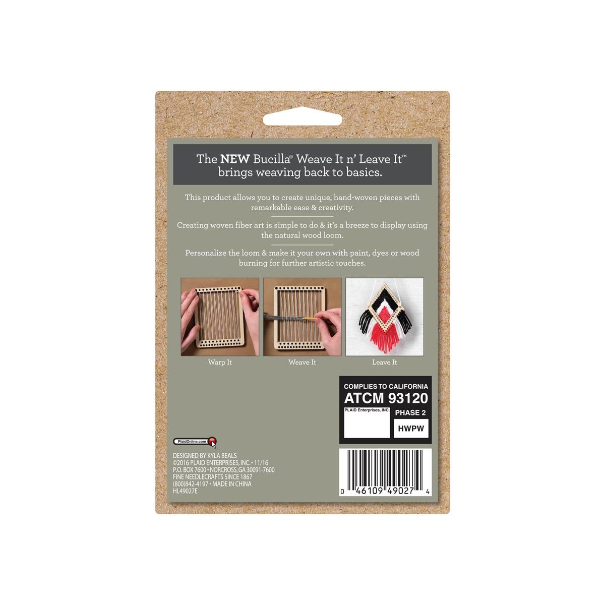 Bucilla ® Weave It n' Leave It™ Classic Diamond Loom