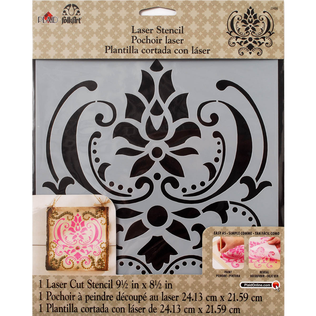 FolkArt ® Painting Stencils - Large - Damask - 31486
