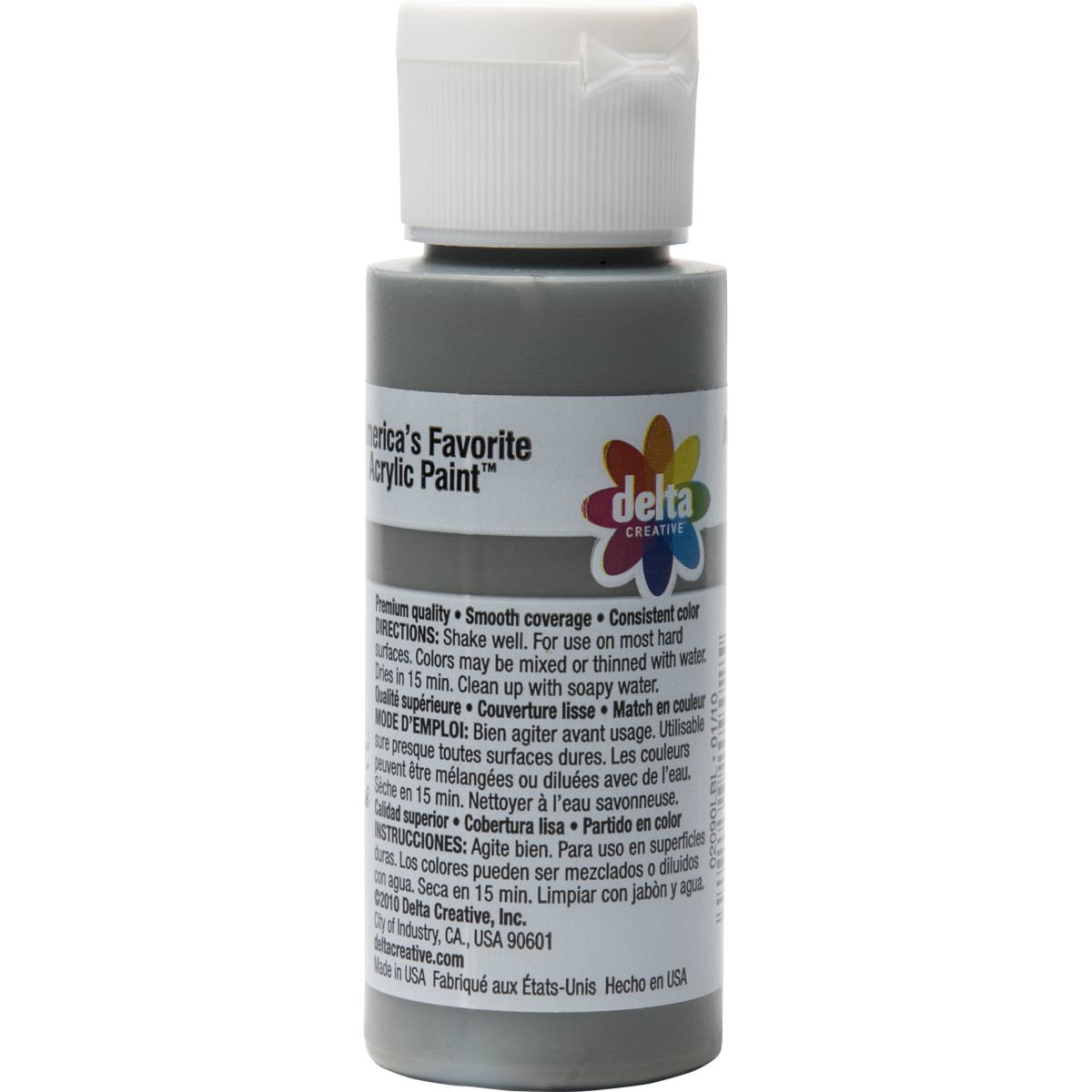 Delta Ceramcoat ® Acrylic Paint - Hippo Grey, 2 oz.