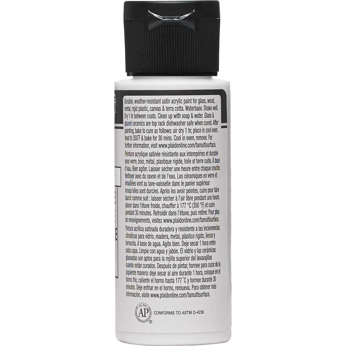 FolkArt ® Multi-Surface Satin Acrylic Paints - Dove, 2 oz. - 2382