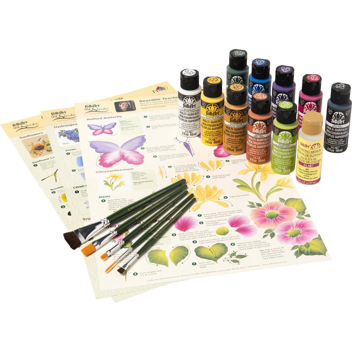 FolkArt ® One Stroke™ Beginner Painting Kit