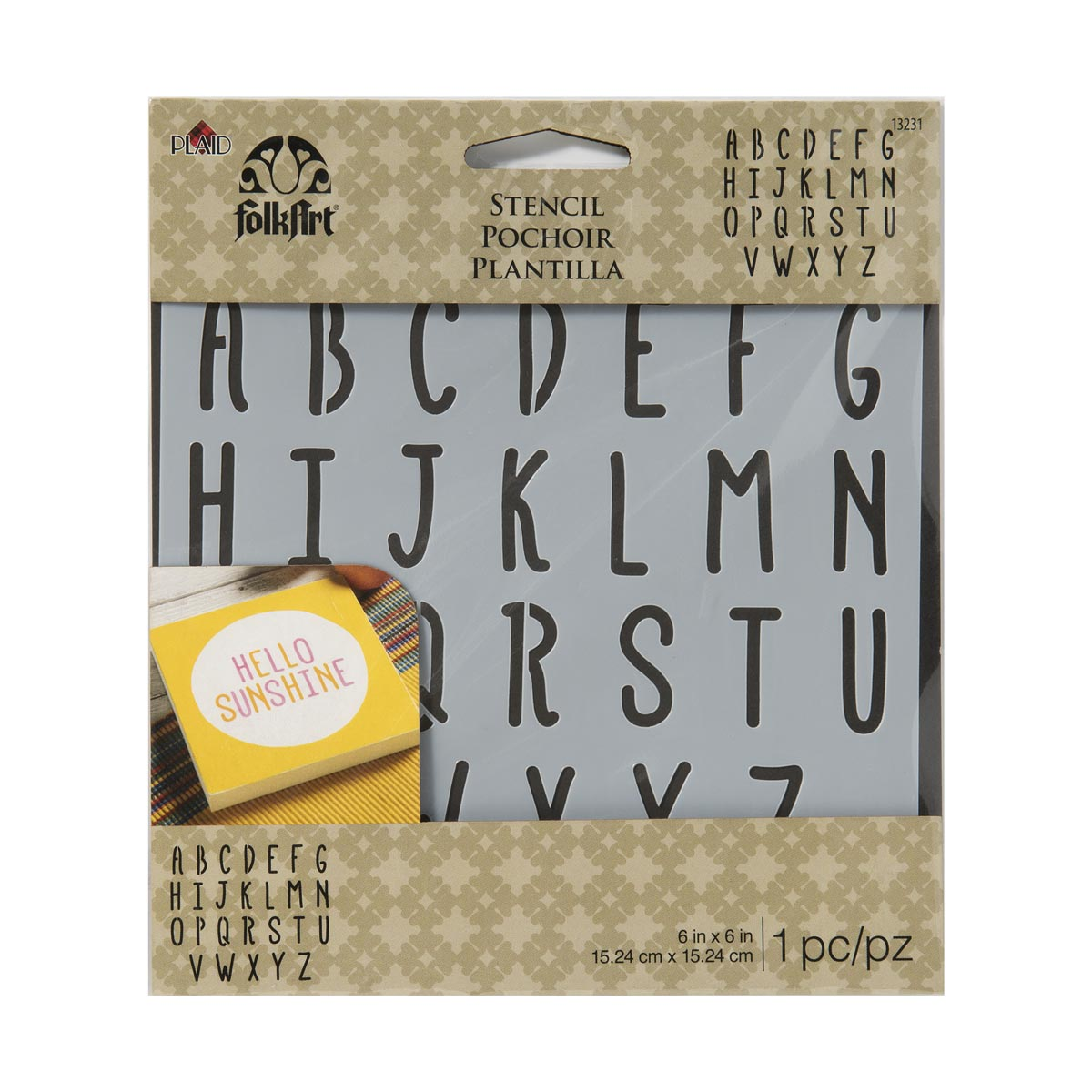 FolkArt ® Painting Stencils - Small - Travel ABC Alphabet