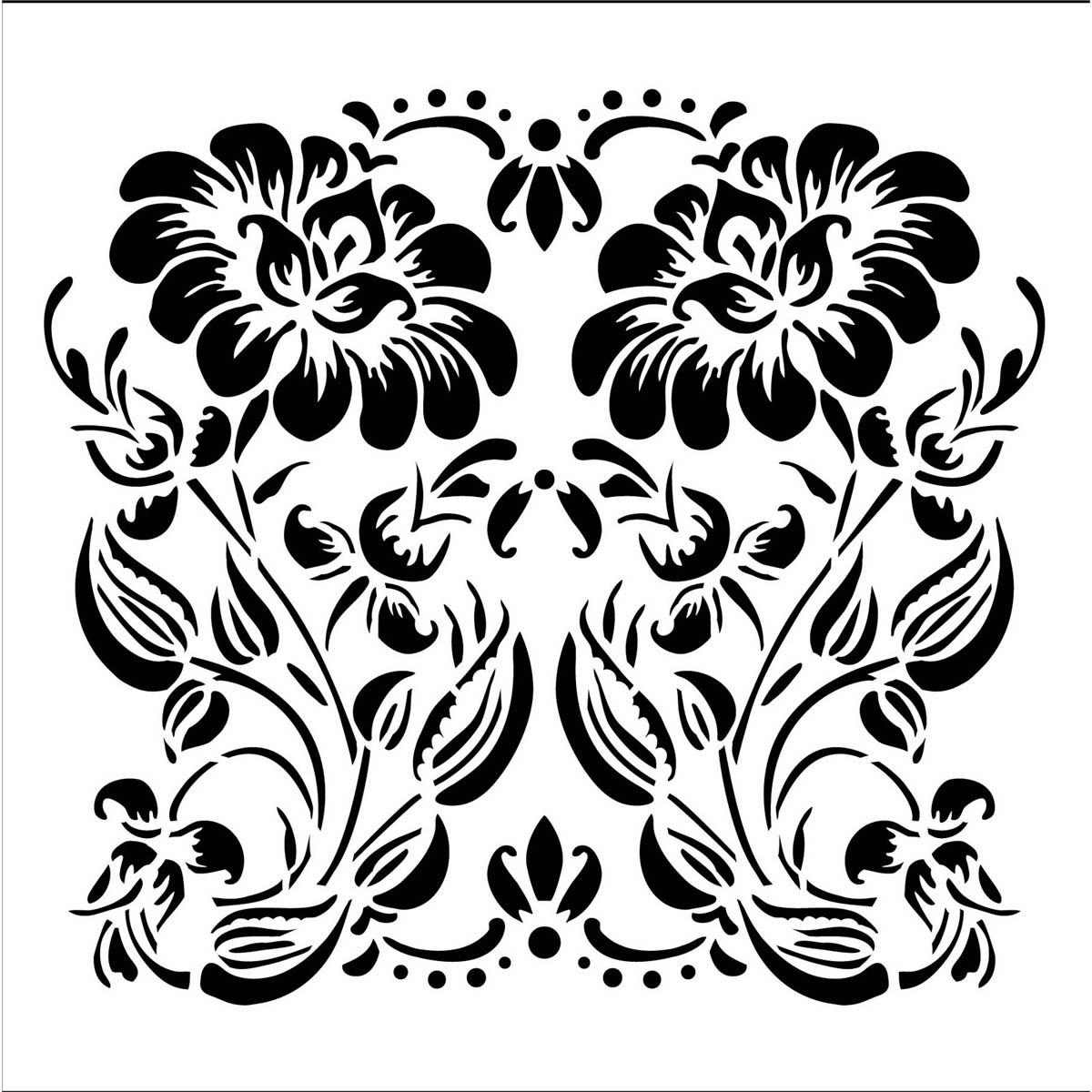 FolkArt ® Painting Stencils - Small - Ornamental Flower - 31476