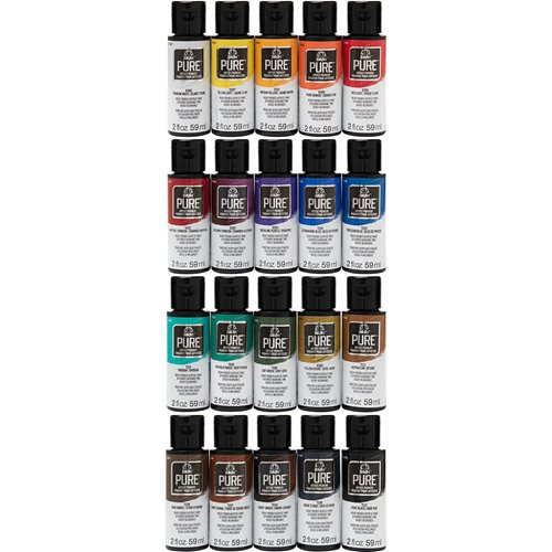 FolkArt ® Pure™ Artist Pigment Paints Sets - 20 Color Set - PROMOFAPAP2