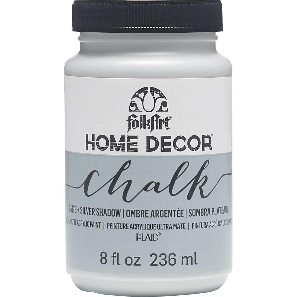 FolkArt ® Home Decor™  Chalk - Silver Shadow, 8 oz.