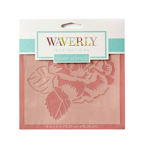 "Waverly ® Inspirations Laser Stencils - Accent - Garden, 6"" x 6"""