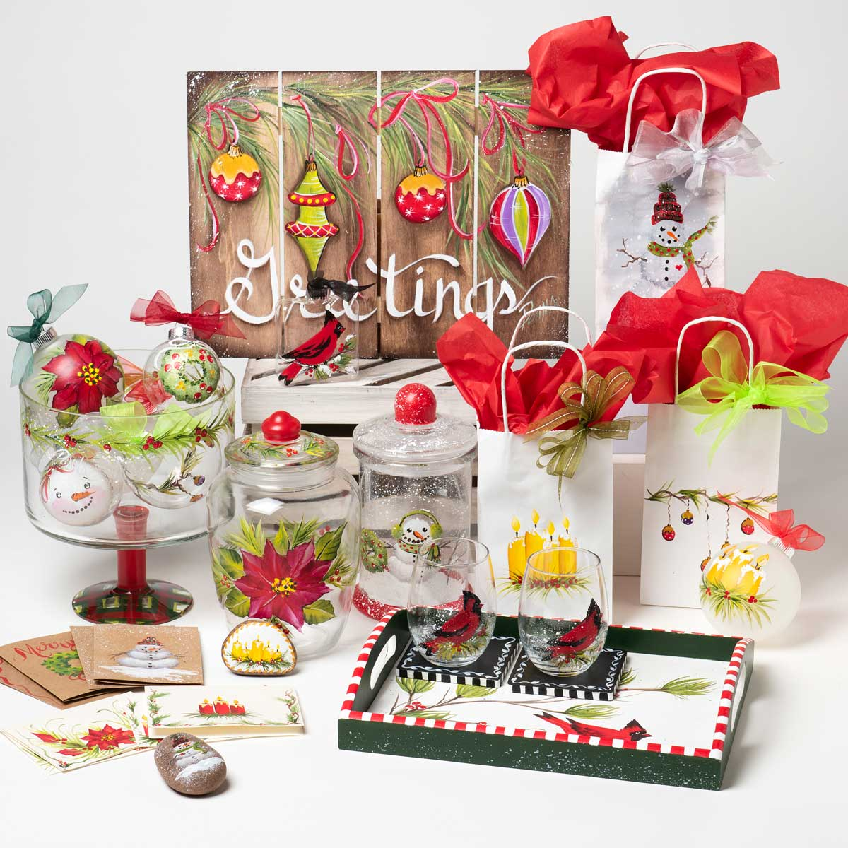 FolkArt ® One Stroke™ Holiday Painting Kit - Fall and Winter - PROMOOSBKH2