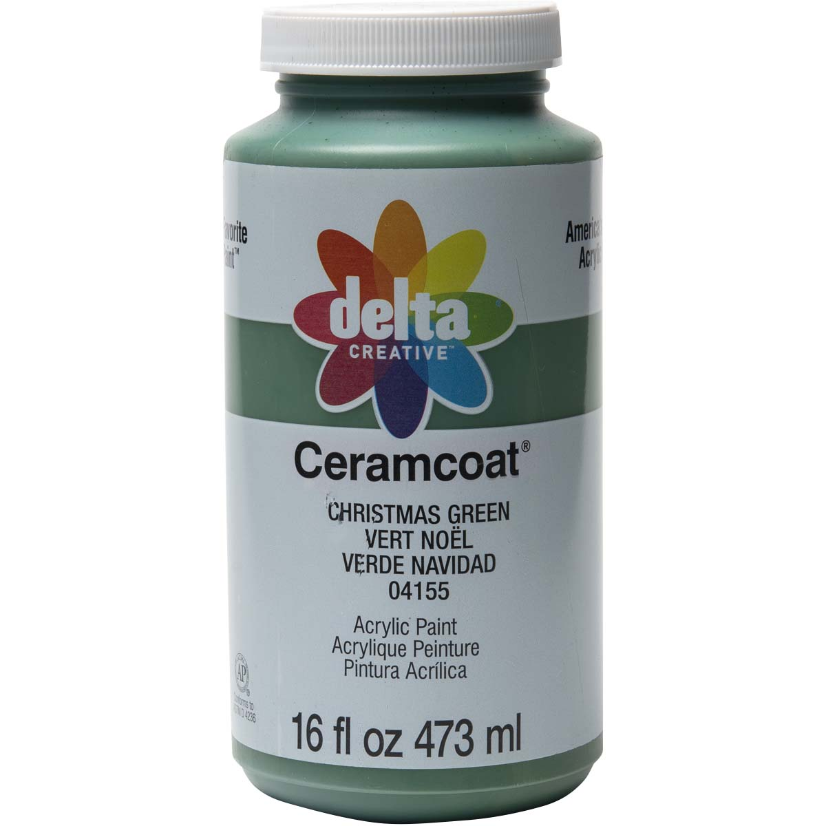 Delta Ceramcoat ® Acrylic Paint - Christmas Green, 16 oz. - 04155