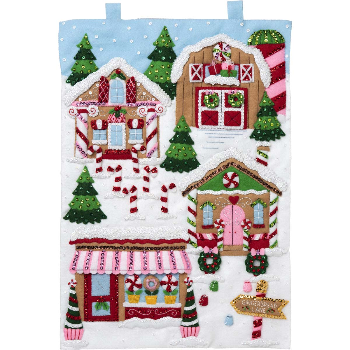 Bucilla ® Seasonal - Felt - Home Decor - Gingerbread Lane Wall Hanging - 89270E